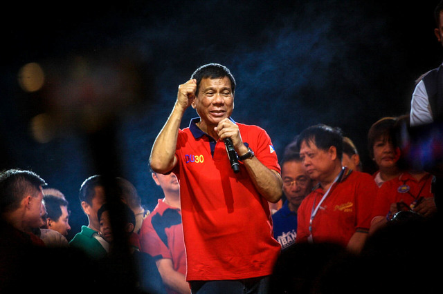 Davao City Mayor Rodrigo Duterte