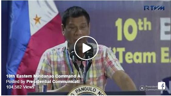 Pres. Duterte leads 10th EastMinComm anniversary
