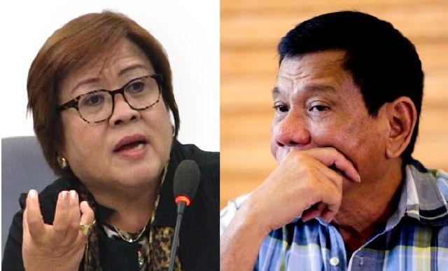 I pity Duterte - De Lima