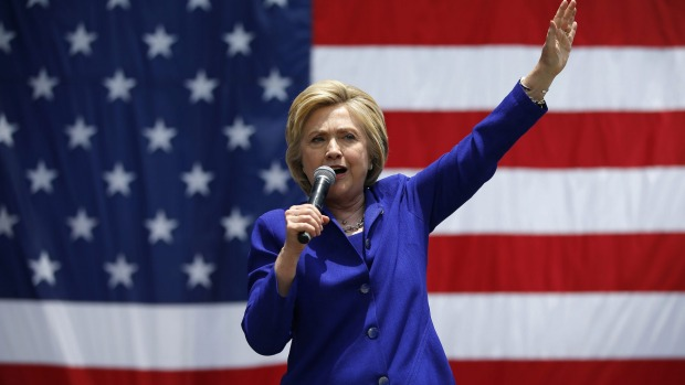 US Presidential candidate Hillary Clinton
