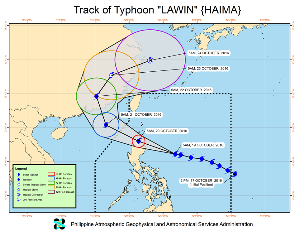 Lawin to further intensify before landfall in Cagayan Area