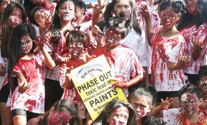 Run against toxic paint