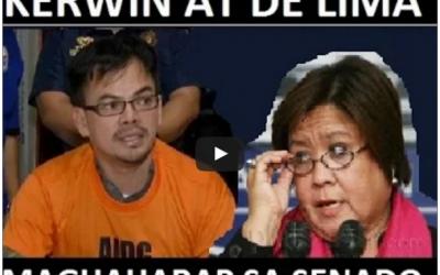 Magkikita sa Senado Sina Kerwin Espinosa At Leila De Lima