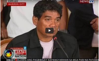 Ronnie Dayan, umaming tumanggap siya ng drug money mula kay Kerwin Espinosa