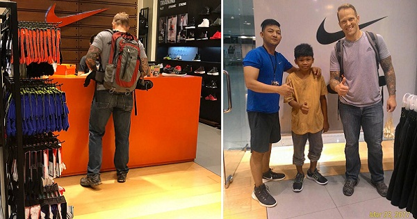Foreigner Buys New Pair Of Nike Shoes For Sampaguita Vendor