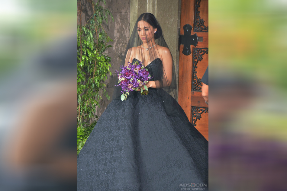 LOOK: Maja Salvador stuns in black wedding gown