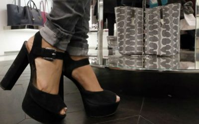 Ban on high heels at work takes effect