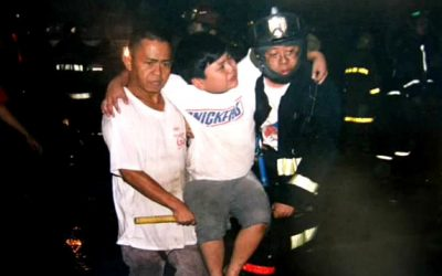 Firefighter who saved Atio's life calls student
