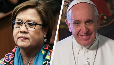 De Lima receives rosary from Pope Francis