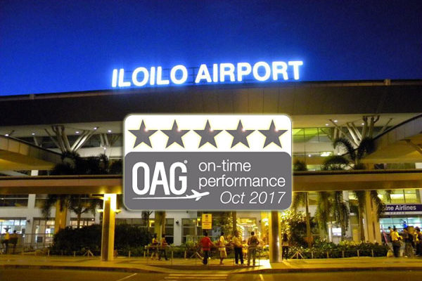 Iloilo Airport awarded with On-Time Performance Star Rating
