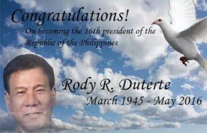 message to Duterte