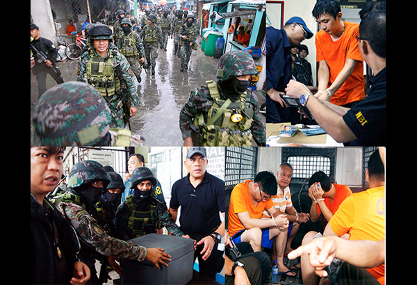 Raid inside bilibid yields drugs gadgets bath tub for Bureau raid crew