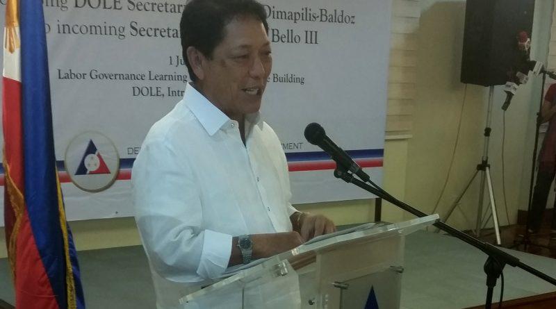 Labor and Employment Secretary Silvestre H. Bello III