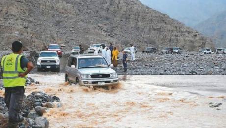 flash flood on UAE mountain Ahmed Shaaban/Ras Al Khaimah