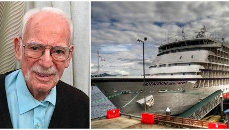 """94-Year-Old Navy Veteran Lived On Cruise Ship For Past 13 Years: """"Life Couldn't Be Better"""""""