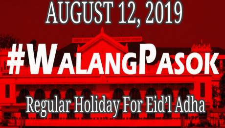 Eid'l Adha holiday on Aug. 12