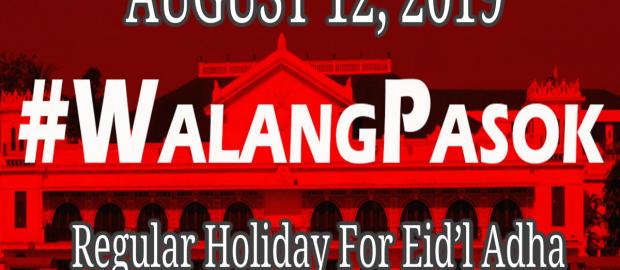 Eid'l Adha holiday on Aug. 12