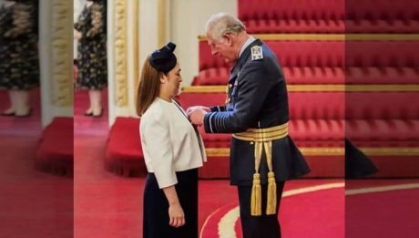 Prince Charles pins Order of British Empire Award to Filipino nurse