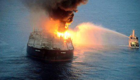 oil tanker blast sa Sri Lanka