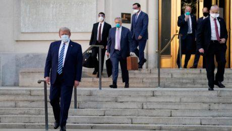 Donald Trump returns to White House