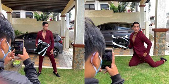Caviteño Viral Matapos Magsuot Ng Pormal Para sa Picture Taking Ng Kanyang Binili Online