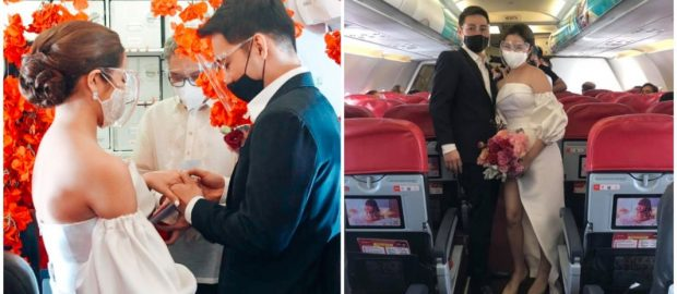 Air Asia marks 1st wedding onboard